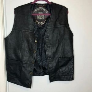 Other - Genuine Leather Vest, Black, XL